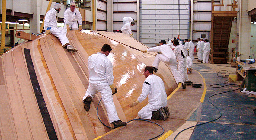 Hodgdon yacht under construction