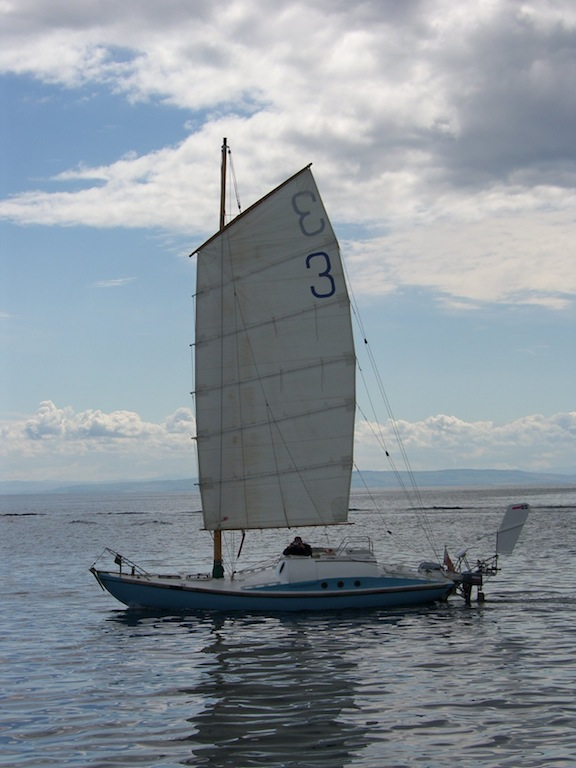 China Blue under sail