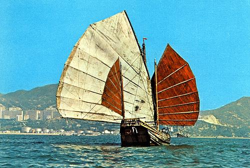 Chinese junlkunder sail