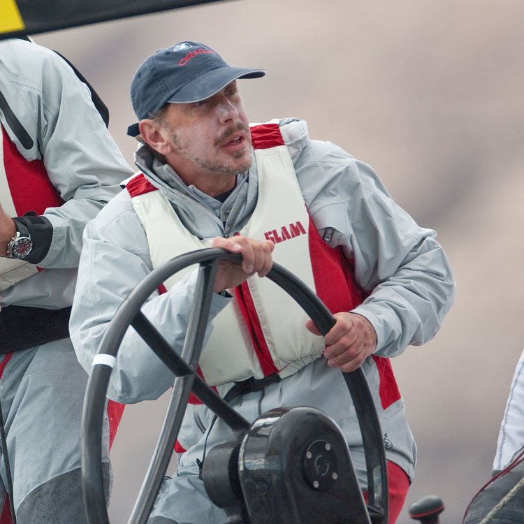 Larry Ellison steering