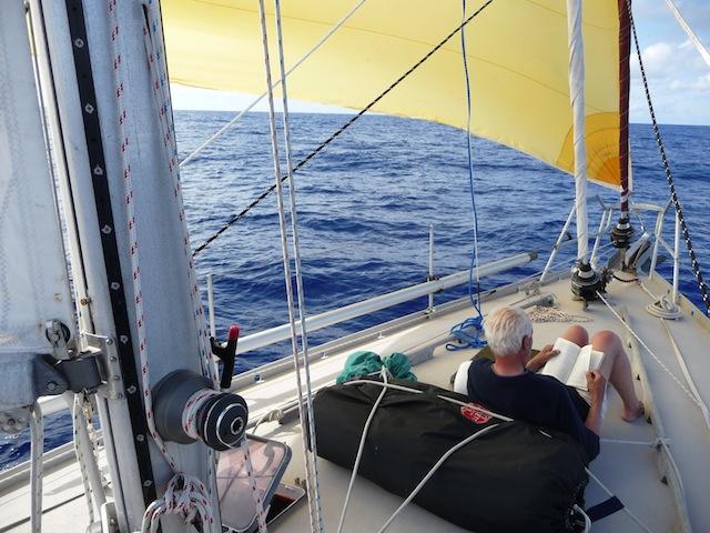 Reading on deck