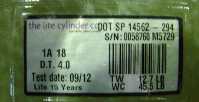 Propane bottle label