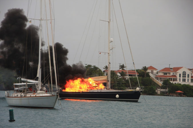 burning yacht 2