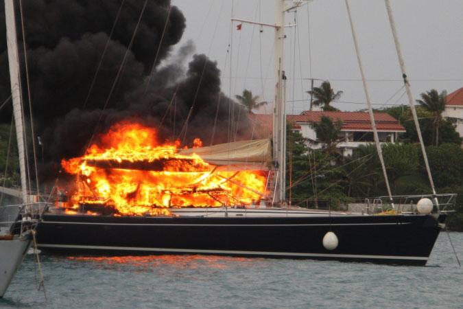 Burning yacht 3
