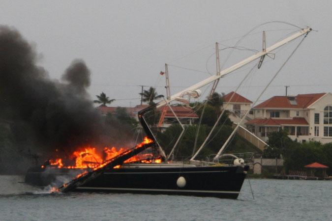 Burning yacht 5