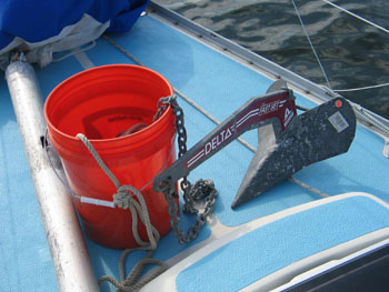 Anchor rode in bucket
