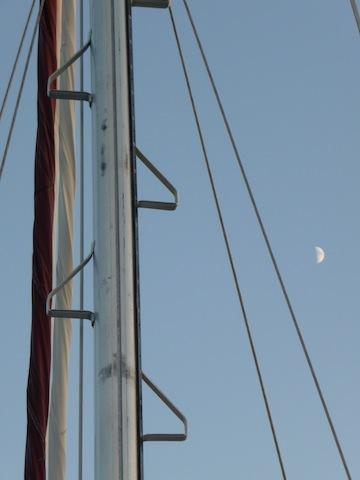 mast and moon