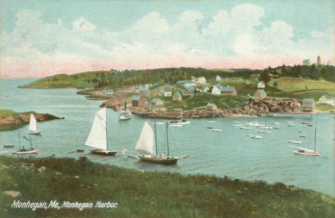 Monhegan postcard
