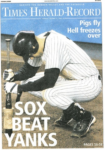 '04 Sox win headline