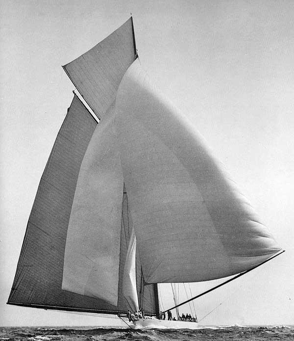 Reliance under sail