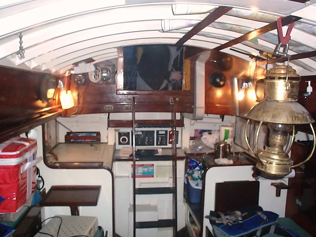 Old sailboat interior