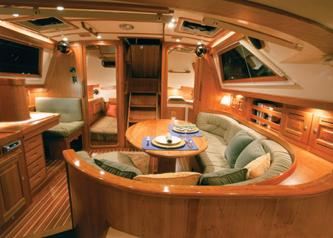 New sailboat interior