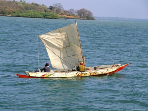 Gambian fishing pirogue