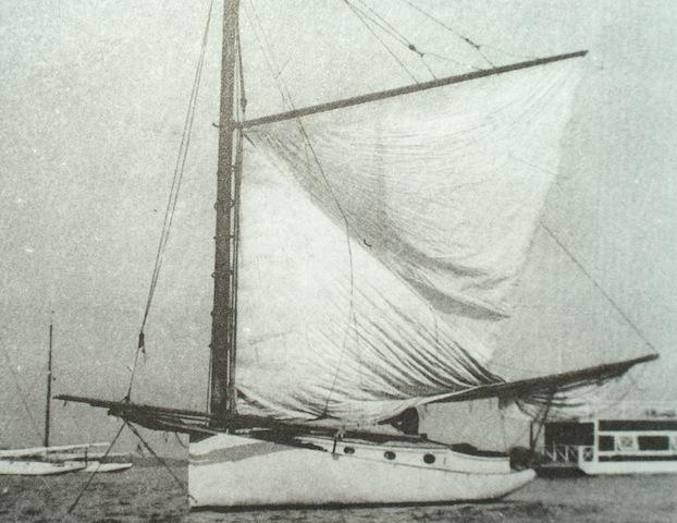 Mascot raising sail