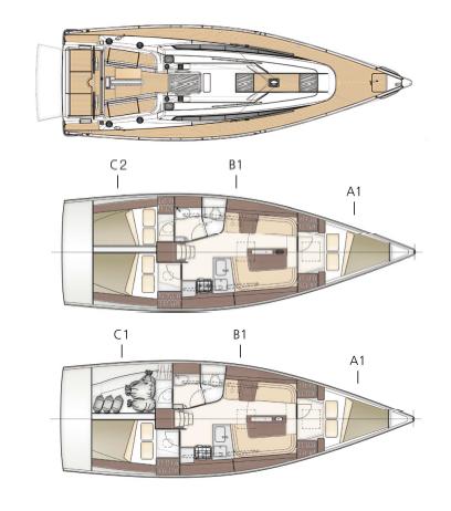 Dehler 38 layout