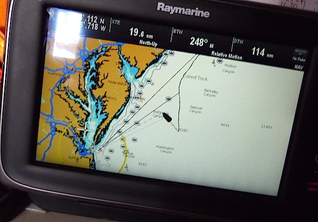 Chartplotter with track