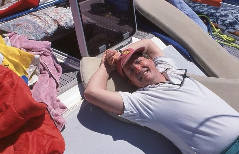 Geoff Hill on deck