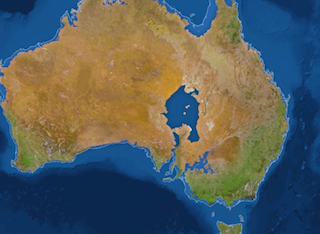 Flooded Australia