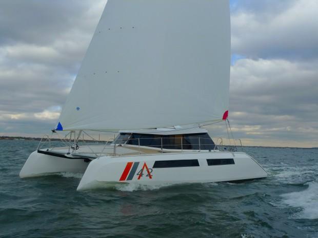 Alpha 42 under sail