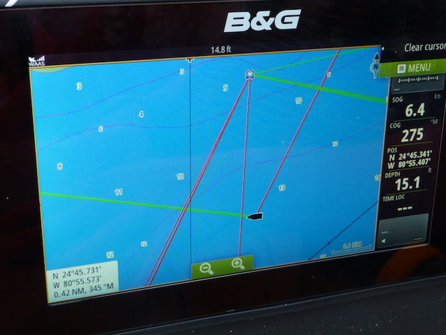 SailSteer plotter display