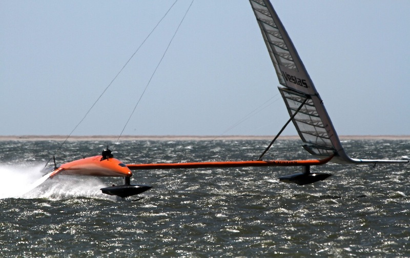Sailrocket under sail