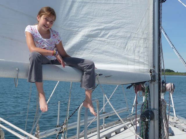 Lucy in sail