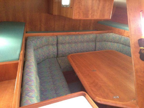 Passoa 47 table under cockpit