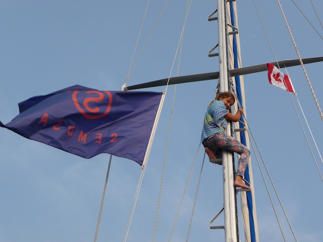 Mast climb