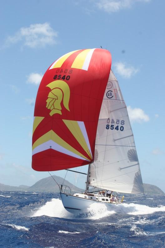 Cal 40 sailing