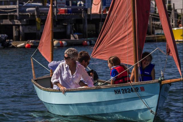 Mimi under sail
