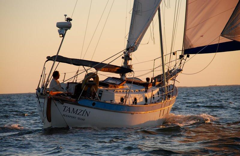 Westsail 32 sailing