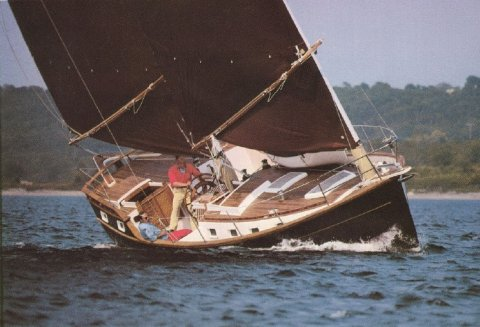 Freedom 40 sailing