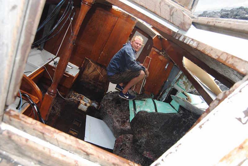 Inside wreck