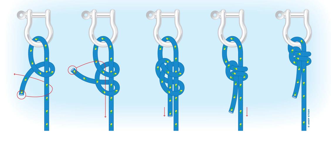 Halyard knot schematic