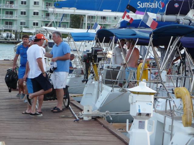 Post-race docks