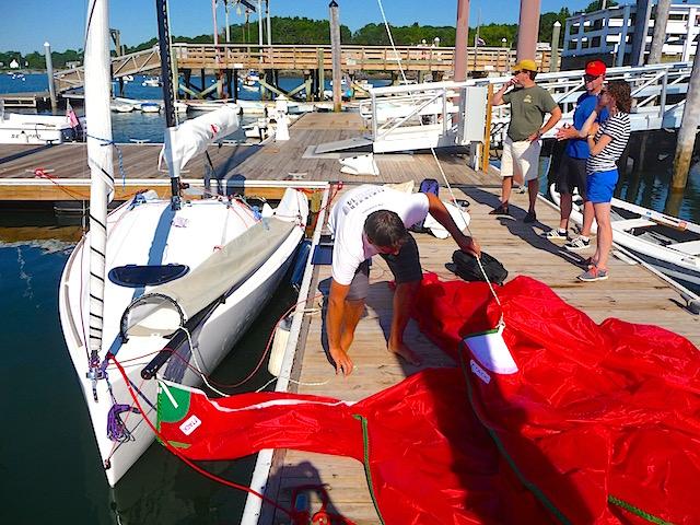 Loading A-sail