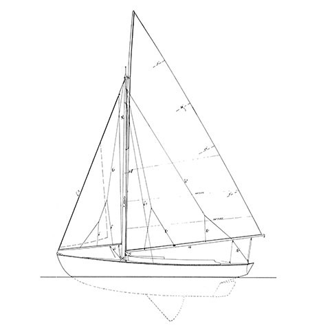 Alerion drawing Herreshoff