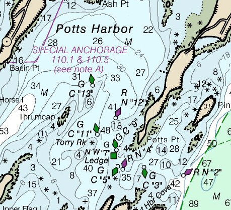 Potts Harbor chart