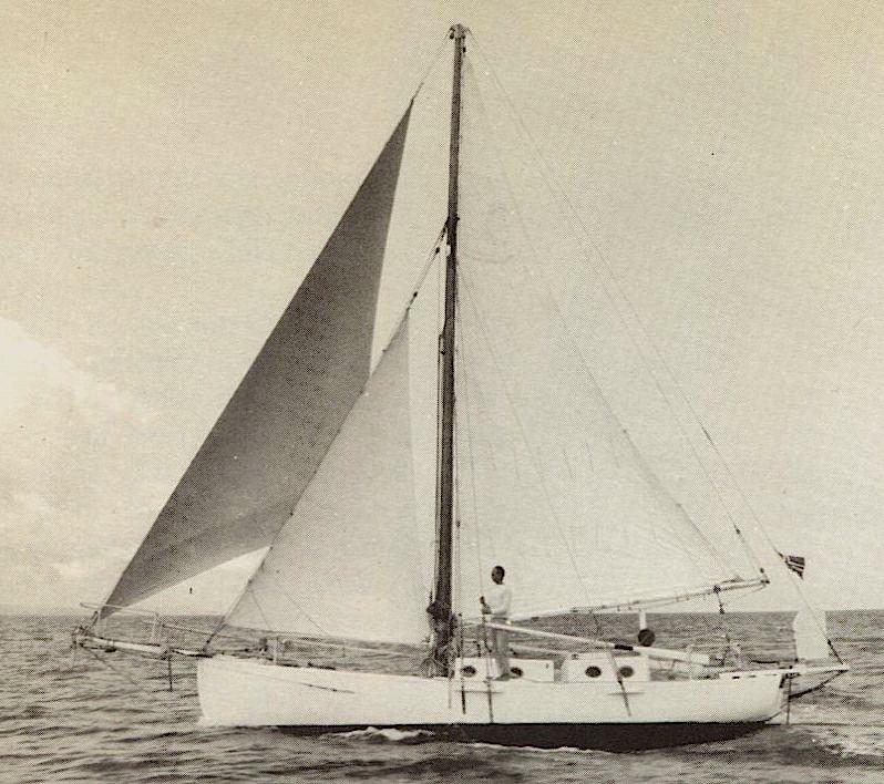 Dorothea under sail