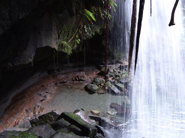 Behind falls