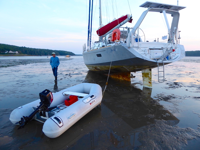 Aground with visitor