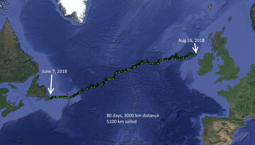 Sailbuoy route