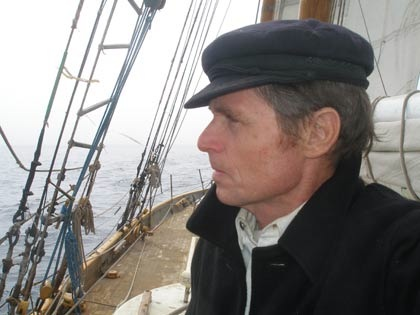 Reid Stowe aboard schooner Anne