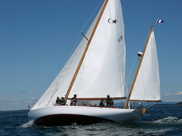 Concordia yawl under sail