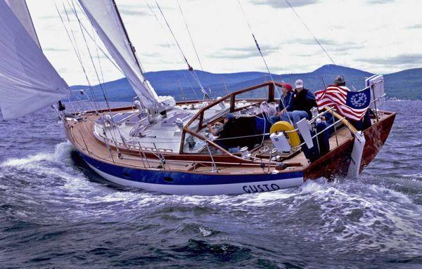 Gusto under sail