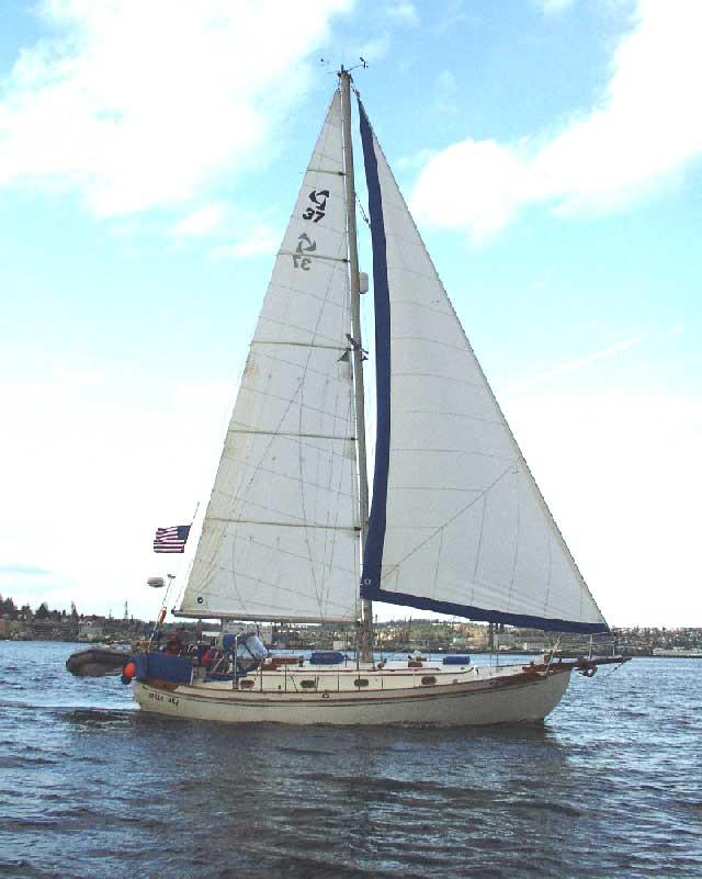 Tayana 37 under sail