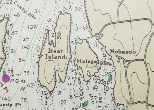 Chart detail of Malaga Island