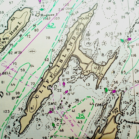 Chart of Cliff island, Maine