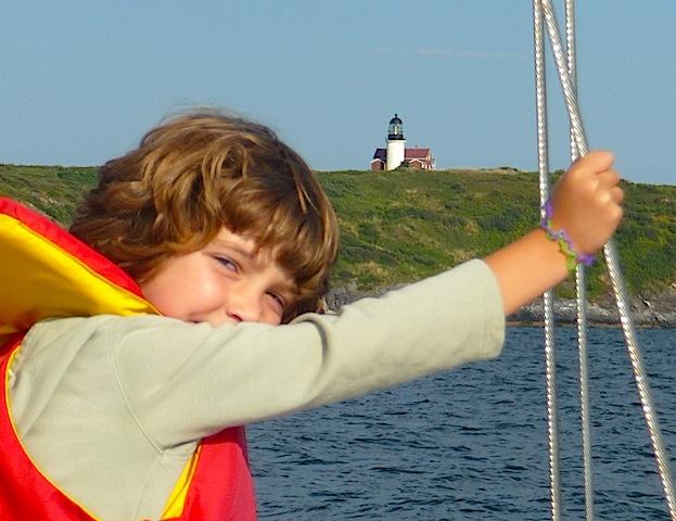 Approaching Seguin Island