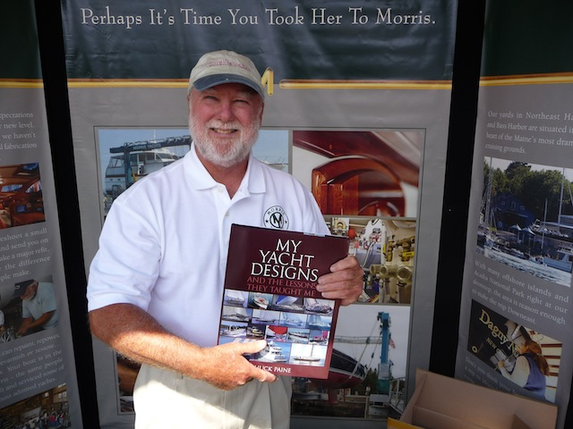 Chuck Paine with his new book